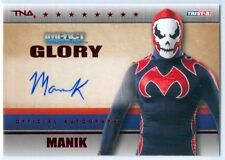 "MANIK ""RED PARALLEL AUTOGRAPH CARD #38/50"" TNA IMPACT GLORY 2013"