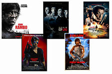 SYLVESTER STALLONE - SET OF 5 - A4 FILM POSTER PRINTS # 1