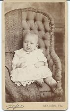 CDV of a Baby in a Chair by Hafer Reading Pa.