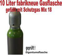 Schutzgasflasche 10 Liter (Arg/CO2) Gasflasche Schweißgas Mischgas Schutzgas