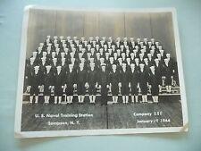 2 VINTAGE REAL PHOTOGRAPHS US NAVAL TRAINING SAMPSON NEW YORK 1944 Co.208