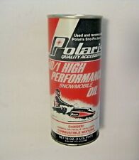 NOS VINTAGE POLARIS HIGH PERFORMANCE SNOWMOBILE OIL ADVERTISING CAN ~ FULL CAN ~