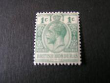 BRITISH HONDURAS, SCOTT # 91, 1c. VALUE GREEN 1921 KGV ISSUE MVLH