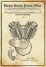 US Patent Motorrad Motor 1923 Blechschild Schild Metal Tin Sign 20 x 30 cm P0038