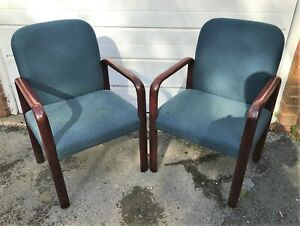 Pair of stylish Gordon Russell Verco? reception chairs - (Ref 20.10.014)