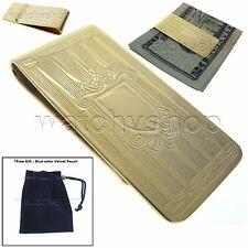 Gold Money Clip Brass Material Wallet Cash Credit Card Holder Men fashion M33