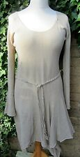 Per Una Ladies Cream Medieval Style Linen Blend Dress With Belt Size 12 *BNWT*