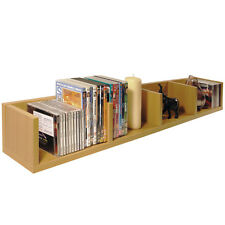 VIRGIL - CD / DVD / Blu-ray / Video Media Wall Storage Shelf - Beech MS4W120