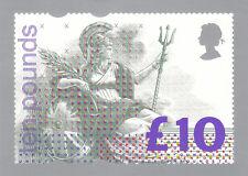 (05773) GB PHQ Postcard £10 Britannia D1 1993 mint