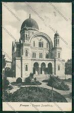 Firenze Città Sinagoga cartolina QQ1926