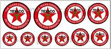 1:43 O SCALE TEXACO SIGN BOXCAR GAS STATION TANKER TRUCK DIORAMA DECALS