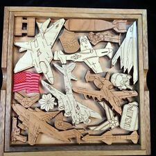 Air Force Challenge wood brain teaser puzzle -unique, artistic, very challenging