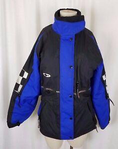 Vintage SnoRider Glacier IVS Blue Vented Snowmobile Jacket Parka Womens M Canada