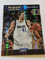 2017-18 Dirk Nowitzki #10 Panini Player Of The Day Foil #/150