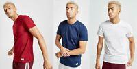 New adidas Originals Men's Core Regular Fit Crew T-Shirt Blue, Grey & Red