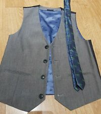 Next Boys Waist Coat With Tie.age 9