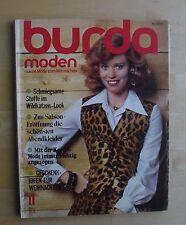 Burda Moden 11/74 November 1974 8 S. Mieder Pelz Folklore Umstandsmode BH KULT