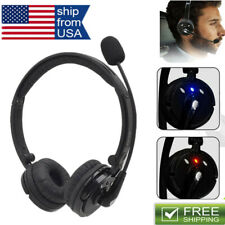Bluetooth Headset Noise-Canceling Trucker Drivers Over the Head Boom Mic for PS3