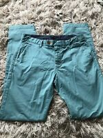 Ted Baker Chaade Classic Fit Chinos Green W34 L34 Cotton Casual Holiday Work