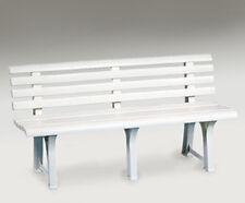 Panca panchina sedile da esterno giardino balcone bianca in poliprop 145X49XH74