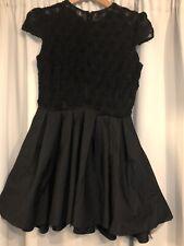 Jones + Jones Lace Bodice Black Dress, Size 12