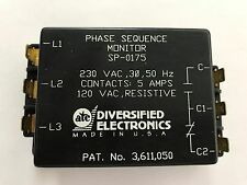 SP-0175 PHASE SEQUENCE MONITOR 230VAC,3 PHASE,50HZ CONTACTS,5AMPS120VAC