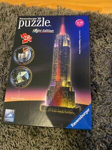 Ravensburger Empire State Building Night Edition 216 Piece 3D Jigsaw Puzzle