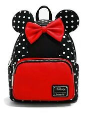Official Loungefly Disney Minnie Mouse Polka Dots Mini Backpack Bag New & Tagged