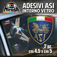 Adesivi / Stickers INTERNO VETRO ASI auto ruote storiche old rally epoca 4,5X5