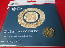 The Last Round Pound 2016 £1 One pound Coin UK BUNC MINT CONDITION Sealed