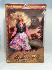"Teen WESTERN GAL fully posable 14"" Doll 1994 Simplifun Walmart"