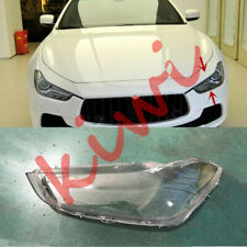 1PCS Left Side Headlight Cover Clear PC With+ Glue For Maserati Ghibli 2014-19