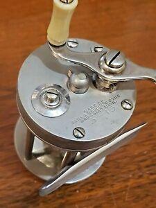 Heddon 3-15 German silver casting reel - nice patina