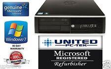 Lot of 10 HP Desktop PC Dual Core Windows 10 Pro 2.8GHz 8GB  250GB Warranty WiFi