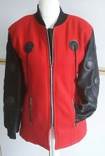 Faust Paris Damen Jacke rot schwarz Größe 38/40