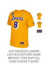 LOS ANGELES LAKERS LIMITED EDITION KOBE BRYANT 1998 MVP ALL STAR PLAYER T-SHIRT