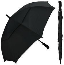 "Rain Stoppers WindBuster Black 48"" Auto Open Golf Umbrella NWTS!"