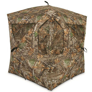 Plano AMEBL3029 Ameristep Outdoor 3 Person Brickhouse Hunting Blind, Camouflage
