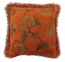 Chenille Floral Ethnic Decorative Cushions