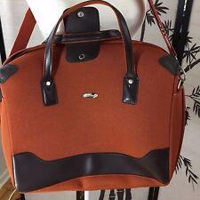Pierre Cardin Rust Laptop Bag Medium Shoulder Satchel Overnight Messenger Bag