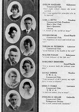 1919 Western Michigan High School College Yearbook~Photos~Football~Minstrels~WWI