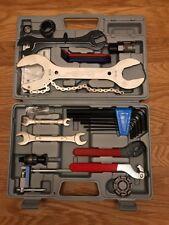 BICICLETTA bici Ciclismo manutenzione riparazione strumento Mano Wrench Kit Set Box Case