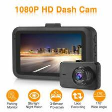 "Dash Cam 1080P Full HD Car Dash Camera with Night Vision 3.0"" LCD Screen 170° Wi"