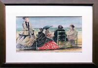Impressionist französisch Trouville Meer 72 datiert Normandie Calvados Aquarell
