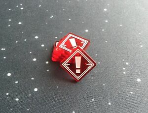 X-Wing 2.0 compatible, acrylic stress tokens - translucent series