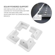 UK 4 x White Corner Brackets Set Solar Panel Mounting Kit - High Quality Finish