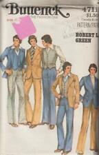 Vintage Butterick Pattern 4711 Mens Suit Jacket Vest Pants Size 42 Father's Day