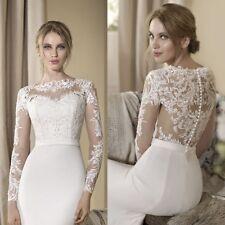 White Ivory Bolero Wedding Bridal Jacket Long Sleeve Lace Applique Elegant Wraps