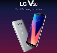 "New *UNOPENED* AT&T LG V30 H931 P-OLED 6.0"" LTE Unlocked Smartphone/64GB/Silver"