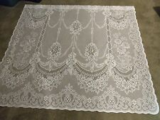 "New White Lace Roses and Bows design Panel 63""L x 62""W"